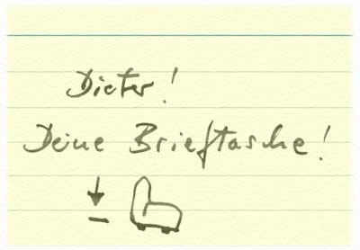 Dieters Spickzettel